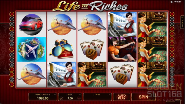 Life of Riches เป็นเกมส์สล็อตออนไลน์แบบ 5 Reel