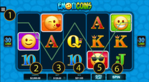 Goldenslot Emoticoins 5 Reels  บนเว็บไซต์สล็อตออนไลน์