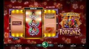 Heroes multiple fortune  ตัวละครดังจากตำนานของจีนได้ถูกอัพมาเป็นเกมสล็อตออนไลน์ให้เราได้เล่นกันแล้วที่นี่